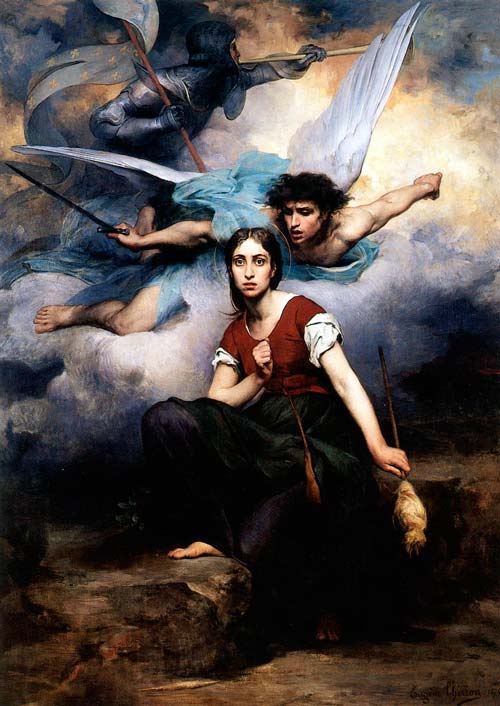 «Жанна слышит голоса». Эжен Тирион, 1876 год. wikimedia.