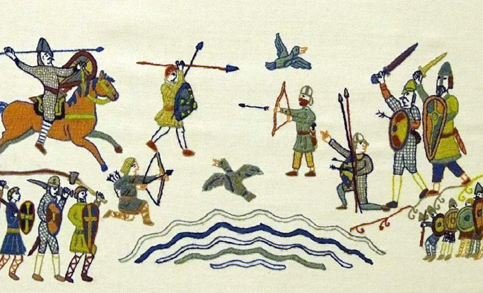 Битва англичан и викингов.